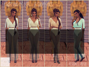Sims 4 — Egyptian AF Top 4 by bekahluann — Egyptian Themed AF Top ~ Requires Mesh