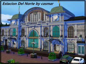 Sims 4 — Estacion Del Norte by casmar — This is a community lot, a train station, for the Sims travelers! It is an old
