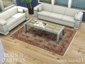 Sims 4 — Carpet Moud Garden No. 1 by RugsAndCarpets — A beautiful, hand knotted carpet from the area of the Iranian City