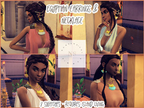 Sims 4 — Egyptian Earrings by bekahluann — Egyptian Themed Earrings ~ Requires Island Living