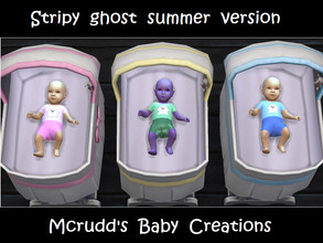 Sims 4 — Stripy ghost summer version by mcrudd — All of your little babies will wear the stripy ghost summer version