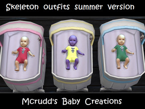 Sims 4 — Skeleton summer version by mcrudd — All of your little babies will wear the little skeleton summer version