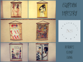 Sims 4 — Egyptian Tapestry by bekahluann — Egyptian Themed Tapestry ~ Requires Island Living