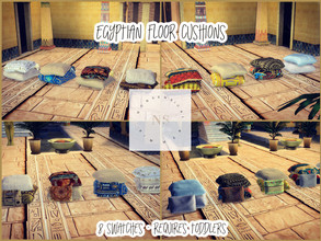 Sims 4 — Egyptian Floor Cushions by bekahluann — Egyptian Themed Floor Cushions ~ Requires Toddlers