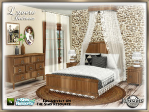 Sims 4 — Lavere bedroom by jomsims — Lavere bedroom for your Sims 4. wood and lace. memory of my dear grandma's room.