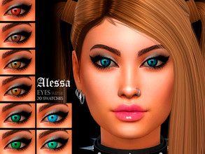 Sims 4 — [Suzue] Alessa Eyes N20 by Suzue — * 20 Swatches * Facepaint Category * For all Ages and Genders * HQ Compatible