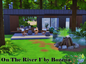 Sims 4 — On The River 1 by Bozena — Dream holidays Lot: 30x20 Value: $ 50 607 - rental for one day $ 506 Lot type: