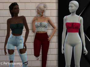 Sims 4 — Front Ruched Top by chrimsimy — -female top -15 swatches -custom thumbnail -all LODs -hq compatible Hope you