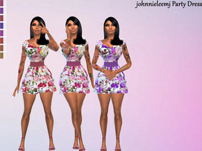 Sims 4 — johnnieleemj Party Dress by johnnieleemj — New Mesh By Me 8 swatches Custom Thumbnail Teen-Elder All LODs Please