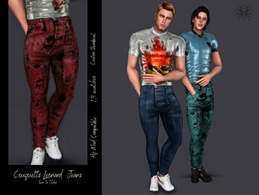 Sims 4 — Couquetts Leonard Jeans by couquett — This is a Jeans for your sims, I Hope you like it 13 colors. Mesh by me.