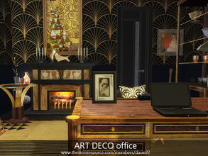Sims 4 — ART DECO office by dasie22 — The room was built in San Myshuno at Hakim 122. The layout of the rooms is in my