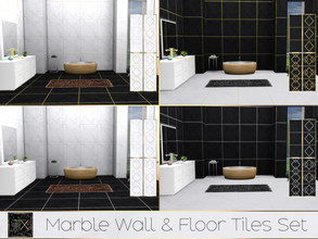 Sims 4 — TX - Marble Wall & Floor Tiles Set by theeaax — Marble Wall and Floor Tiles set This set contains: - 2
