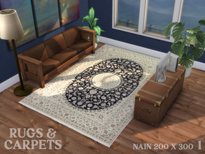 Sims 4 — Nain 200 x 300 No. 1 by RugsAndCarpets — An exquisitely fine and elegant, hand knotted carpet from the area of