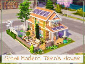 Sims 4 — Small Modern Teen's House by simmer_adelaina — ---PLEASE DON'T FORGET ABOUT MOO BEFORE PLACING IT--- Hello