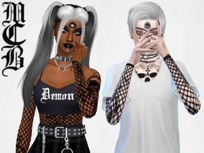 Sims 4 — Third Eye Face Tattoo by MaruChanBe2 — Feeling like having three eyes? Having some paranormal powers? Show it