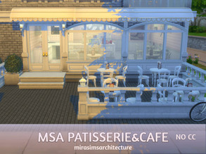 Sims 4 — MSA Patisserie&Cafe NO CC by mirasimsarchitecture — I designed a cafe on the ground floor of the apartment.