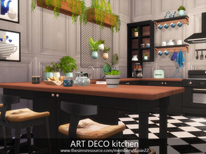 Sims 4 — ART DECO kitchen by dasie22 — The room was built in San Myshuno at Hakim 122. The layout of the rooms is in my