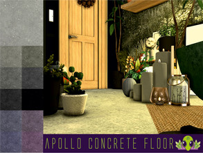 Sims 4 — Apollo Concrete Floor by unidentifiedsims — Comes in a choice of 11 colours Can be found in masonry, stone and
