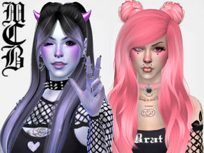 Sims 4 — Molly Blush by MaruChanBe2 — Cute blush for your alt girls <3 9 different colors!