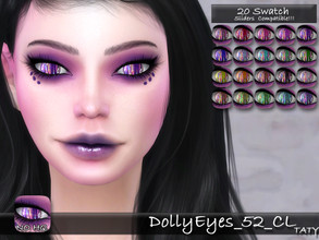 Sims 4 — [Ts4]Taty_DollyEyes_52_CL by tatygagg — - Female, Male - Human, Alien - Toddler to Elder - Hq Compatible -
