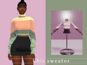 Sims 4 — Chic winter sweater by akaysims — - New mesh - Enabled for Teen-YA-Adult-Elder - 10 swatches - Custom thumbnail