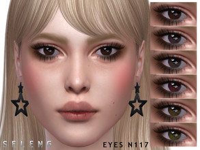 Sims 4 — Eyes N117 by Seleng — 15 colours Custom Thumbnail Face paint section HQ mod compatible The picture was taken