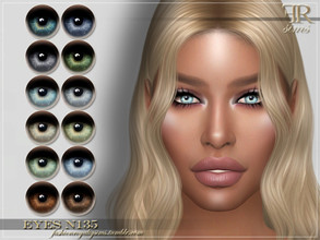 Sims 4 — FRS Eyes N135 by FashionRoyaltySims — Standalone Custom thumbnail All ages and genders 12 color options HQ