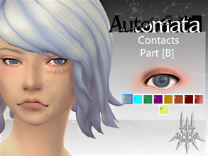 Sims 4 — Automata Contacts [B] by LadyBolet2 — My second set of contacts based on the eye textures from Nier: Automata.