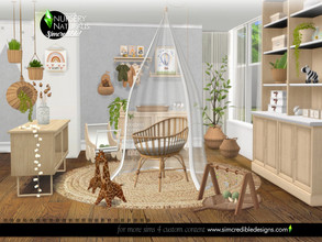 Sims 4 — Naturalis Nursery by SIMcredible! — Oh my cuteness! Naturalis collection now have a new corner to your baby sims