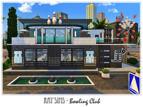 Sims 4 — Bowling Club by Ray_Sims — This lot fully furnished and decorated, without custom content. Lot size 30x30 Must