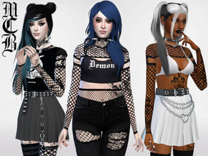 Sims 4 — Varis Fishnet Shirt by MaruChanBe2 — Cool fishnet undershirt for your sims. You will find it in Accessories,