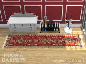Sims 4 — Tabriz 75 x 300 cm No. 1 by RugsAndCarpets — This rug from the Iranian City of Tabriz is hand knotted with a