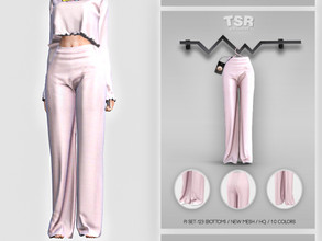 Sims 4 — PJ SET-123 (BOTTOM) BD456 by busra-tr — 10 colors Adult-Elder-Teen-Young Adult For Female Custom thumbnail