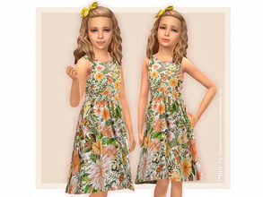 Sims 4 — Thea Dress for Girls NEEDS Holiday Celebration Pack (origin  by lillka — Thea Dress for Girls YOU NEED the free