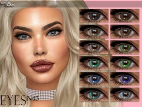 Sims 4 — [MH] Eyes N43 by MagicHand — --12 available colors-- --Compatible with HQ settings-- --CAS thumbnail-- Pictures