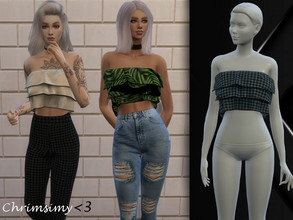 Sims 4 — Poofy Top by chrimsimy — -female top -13 swatches -custom thumbnail -all LODs -hq compatible I hope you like it!