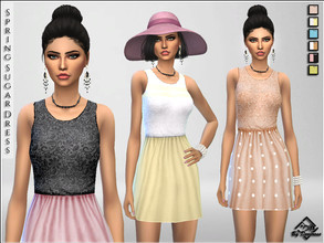 Sims 4 — Spring Sugar Dresses by Devirose — Lovely chic dresses for spring days in soft colors and romantic mood. Enjoy^^