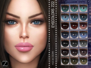 Sims 4 — EYECOLORS Z22 by ZENX — -Base Game -All Age -For Female -28 colors -Works with all of skins -Compatible with HQ