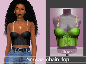 Sims 4 — Serwaa chain top by akaysims — - New mesh - 15 swatches - HQ Compatible - Custom thumbnail - All LODs Really