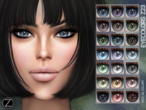 Sims 4 — EYECOLORS Z23 by ZENX — -Base Game -All Age -For Female -26 colors -Works with all of skins -Compatible with HQ