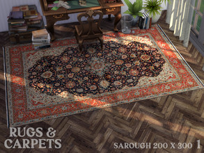 Sims 4 — Sarough 200 x 300 cm (79 x 118 in) No. 1 by RugsAndCarpets — A high quality and robust carpet from the region