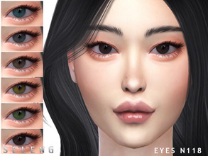 Sims 4 — Eyes N118 by Seleng — 15 colours Custom Thumbnail Face paint section HQ mod compatible The picture was taken