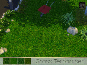 Sims 4 — TX - Grass Terrain Set by theeaax — A set of 4 beautiful realistic green grass textures NOTE: The color