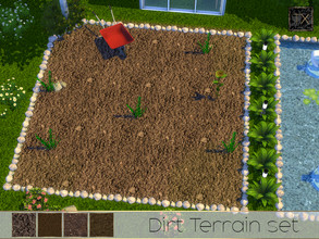 Sims 4 — TX - Dirt Terrain Set by theeaax — A set of 4 realistic brown dirt textures NOTE: The color swatch/thumbnail for