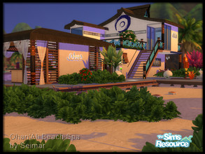 Sims 4 — Ohan' Ali Beach Spa NO CC by seimar8 — Welcome to Ohan' Ali Beach Spa resort. Whether you're a total health nut,