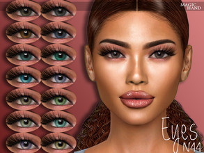 Sims 4 — [MH] Eyes N44 by MagicHand — --15 available colors-- --Compatible with HQ settings-- --CAS thumbnail-- Pictures
