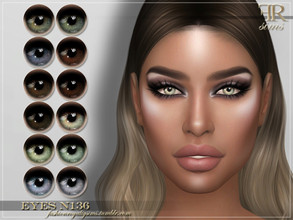 Sims 4 — FRS Eyes N136 by FashionRoyaltySims — Standalone Custom thumbnail All ages and genders 12 color options HQ