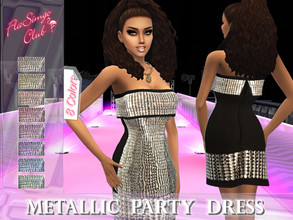 Sims 4 — Metallic Party Dress by FlaSimgo_Club — - 8 Colors - Teen To Elder - Everyday, Formal, Party, Hot Weather - New