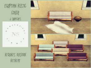 Sims 4 — Egyptian Rustic Couch by bekahluann — Egyptian Themed Rustic Couch ~ Requires Outdoor Retreat