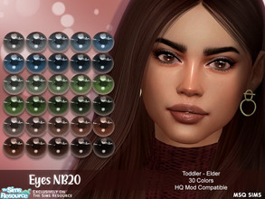 Sims 4 — Eyes NB20 by MSQSIMS — - Base Game - Toddler - Elder - Female - Male - 30 Colors - Facepaint Category - Custom